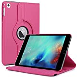 iPad Pro 9.7 Case, LK [Stand Feature] Luxury 360 Degree Rotating Magnetic Smart Cover [Wake & Sleep Function] PU Leather Protective Case For Apple iPad Pro 9.7 Inch + Stylus (Hot Pink)