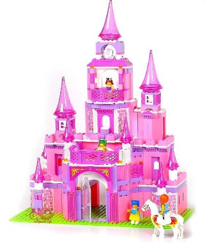 iPlay Fairy Princess Pink Castle - Build it yourself - Building Blocks - 472pcs - XLarge - Kids Authority