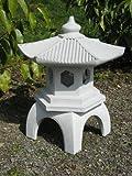 """Cement PAGODA Lantern 16""""H, 3-piece GRAY CONCRETE Outdoor Garden Statue"""