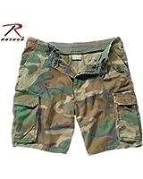 Vintage Paratrooper Cargo Shorts, Woodland Camo XL