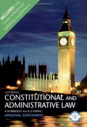 Constitutional And Administrative Law: Updating Supplement