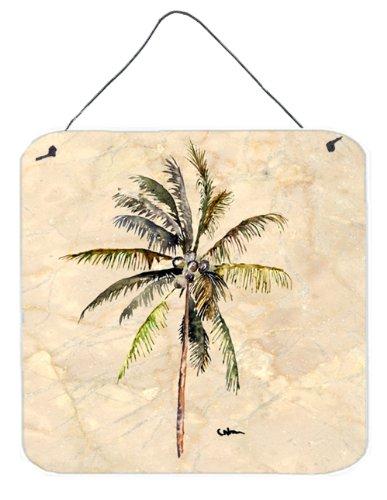 Caroline's Treasures 8482DS66 Tree-Palm Tree Aluminum Metal Wall or Door Hanging Prints, 6 x 6