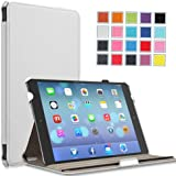 MoKo Apple iPad Air Cover Case - Slim-Fit Case with Stand for iPad Air / iPad 5 (5th Gen) Tablet, WHITE (With Smart Cover Auto Wake / Sleep)