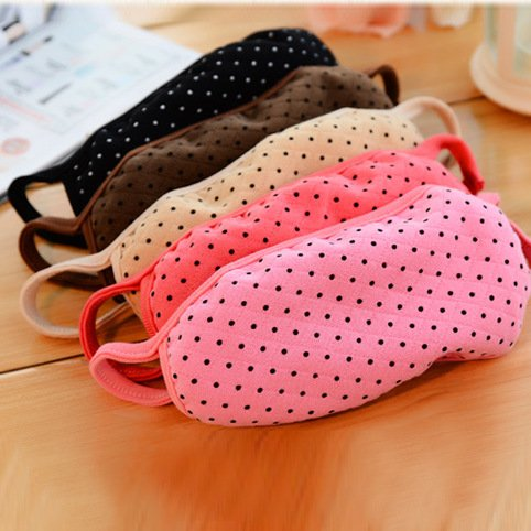 ZWZCYZ 5pcs Womens Girls Korean Cute space cotton dots Face Stripe Breathing Mask Dust Mask Warmer Cover (Color randomly send)