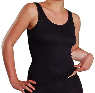 HERMKO 7310 Damen Unterhemd aus der Softfaser Modal, Achselhemd vom schwäbischen Produzent, Schadstoffgeprüft nach Öko-Tex Standard 100, weiches und enganliegendes Material mit Glanz, super soft for women from HERMKO