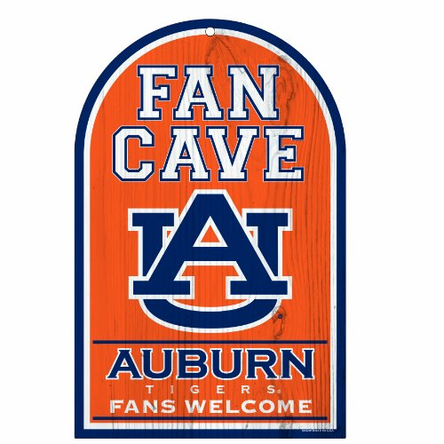 NCAA Auburn Tigers 11-by-17 inch Fan Cave Fans Welcome Wood Sign at Amazon.com