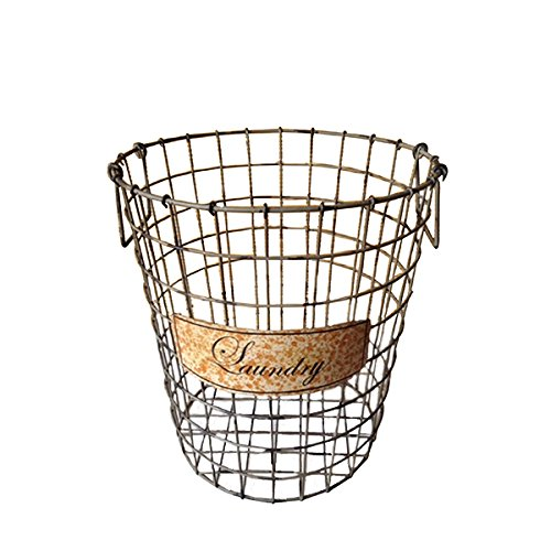 Green Wire Laundry Basket 0