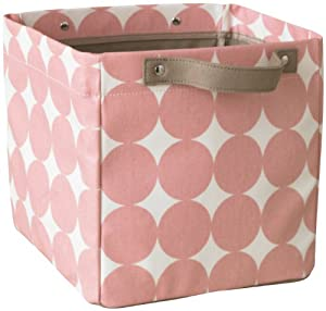 DwellStudio Storage Bin, Dots Petal, Small