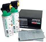 Hitachi Second Fix 50 mm Galvanized 16 Gauge Straight Finish Brad Nail Pack
