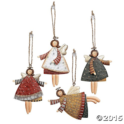Dancing Tin Angels Christmas Tree Ornaments