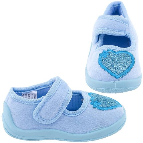 Cheap Chatties Blue Toddler Slippers with Glitter Hearts for Girls (B005Y4RUUA)
