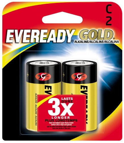 Eveready 02888 - C Cell 1.5 volt Gold Alkaline Battery