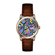 buy Tp Men'S Stainless Steel Watch Tp-3X2F0-464 With Brown Leather Band Casual And Business Design Easy Reader Wristwatch