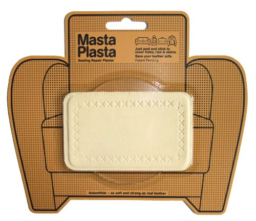 Mastaplasta Peel And Stick First-Aid Leather Repair Band-Aid For Furniture, Medium Plain, 4-Inch By 2.4-Inch, Ivory front-608896