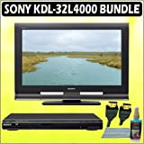 Sony Bravia L-Series KDL-32L4000 32-inch 720P LCD HDTV + Sony DVD Player w/ Accessory Kit