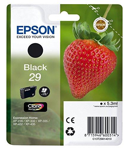 Epson T2981 Erdbeere, Claria Home Tinte, Text- und Fotodruck (Singlepack) schwarz