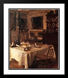 my dining room 20x23 framed and double matted art print by