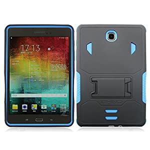 [iRhino] TM For Samsung galaxy Tab A 8 inch T350 Tablet Black-blue Heavy Duty rugged impact Hybrid Case cover with Build In Kickstand Protective Case from Rhino