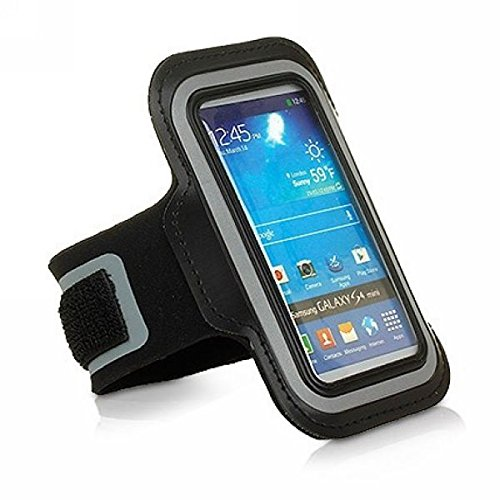 Black Workout Exercise Sports Armband Case for Mobiles iPods MP3 Players_(5 inch)