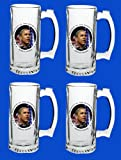 Set Of 4 Barack Obama Commemorative Beer Mug Glasses Steins - In Stock, Ships Right Away