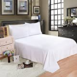 White Cotton Bedsheet Without Pillow Cover Set Of 3 Having 220 TC Compatible For Single Size Bed -By Cloth Fusion