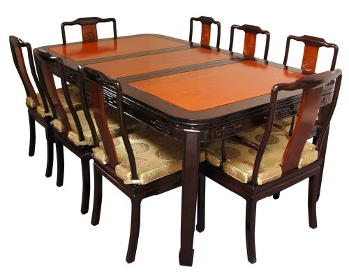 Formal elegant dining table 96 chinese rosewood dining for Oriental dining table