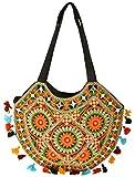 Khatri Handicrafts Women's Handbag (Black)