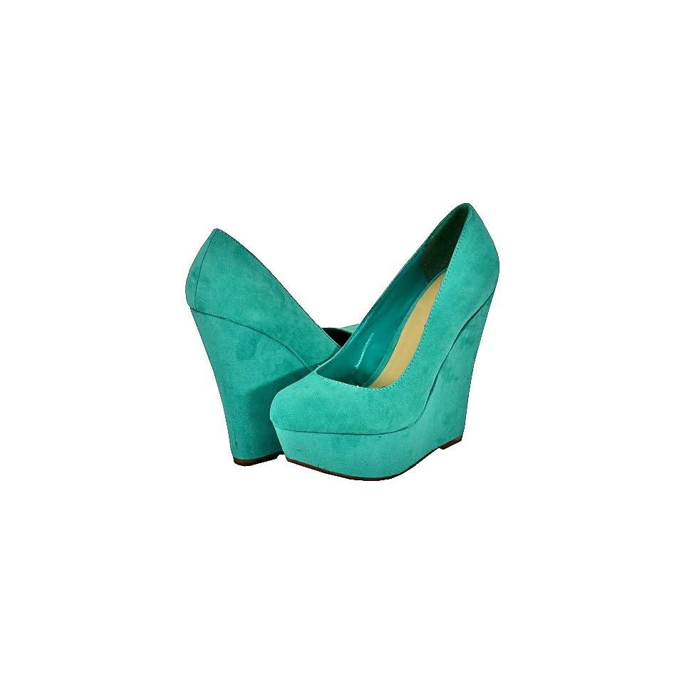 e42d47d434e Breckelles Cilo 01 Aqua Women Wedge Pumps Shoes on PopScreen