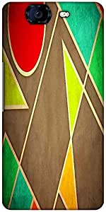 Snoogg Pastel Geometric Shapes 2677 Designer Protective Back Case Cover For Micromax Canvas Knight A350
