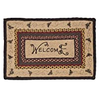 Cambrie Lane Jute Rug Rectanglar Stencil Welcome 20x30