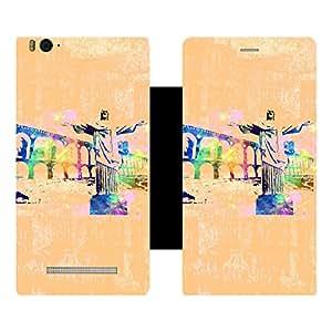 Skintice Designer Flip Cover with Vinyl wrap-around for Xiaomi Redmi Mi4i , Design - Brazil