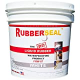 Rubberseal Liquid Rubber Waterproofing and Protective Coating -- Roll On WHITE 1 GALLON