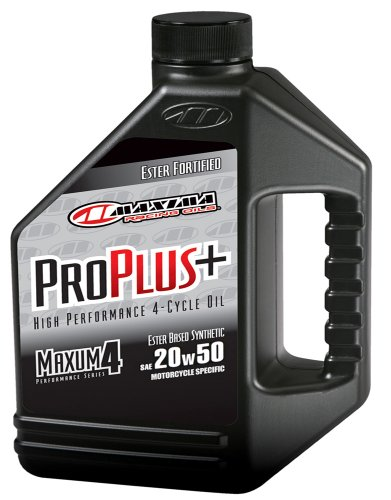 Maxima (30-039128) Pro Plus+ 20W-50 Synthetic Motorcycle Engine Oil - 1 Gallon Jug (Mobile 1 Motorcycle Synthetic Oil compare prices)