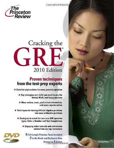 Cracking the GRE with DVD, 2010 Edition (Graduate School Test Preparation)