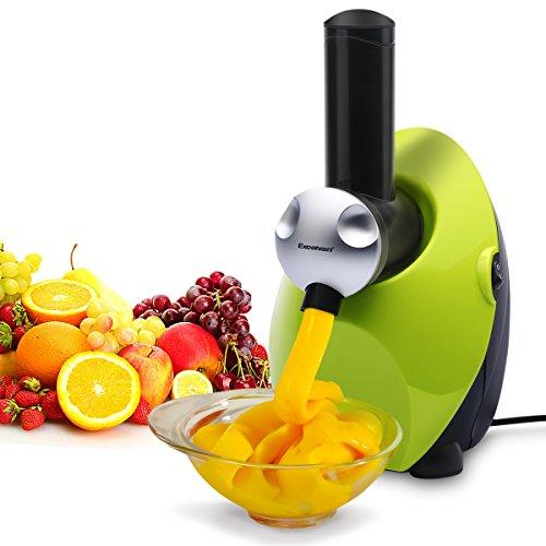 Excelvan Automatic Fruit Ice Cream, Yogurt and Dessert Maker Blender -100% Fruit Soft-Serve Machine (Green)