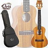 ELVIS K100C・ハワイアンコア材・スロテッドヘッド・コンサートウクレレ・美木目・アコースティック・ケース付(K100C)