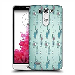 Snoogg blue circles and bubbles 2594 Designer Protective Back Case Cover For LG G3 BEAT STYLUS