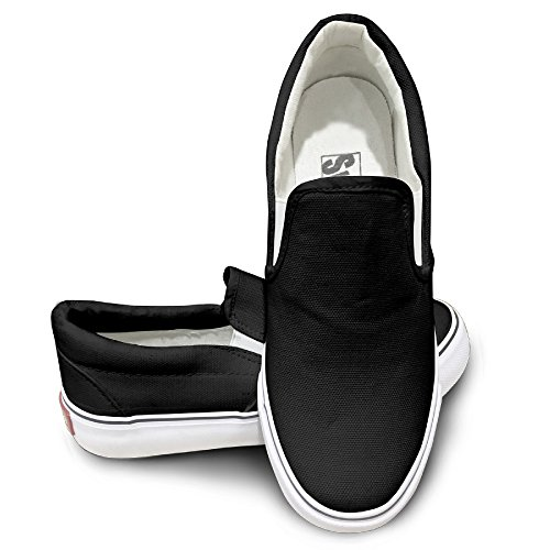 PTCY Simple Jensen Logo Fashion Unisex Flat Canvas Shoes Sneaker 43 Black (Tom Clarks Popcorn compare prices)