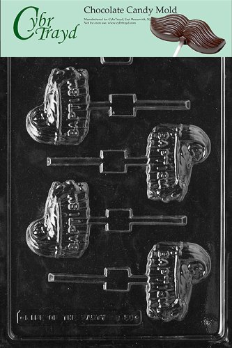 Cybrtrayd B050 Baptism Bassinet Baby Chocolate Candy Mold front-981261