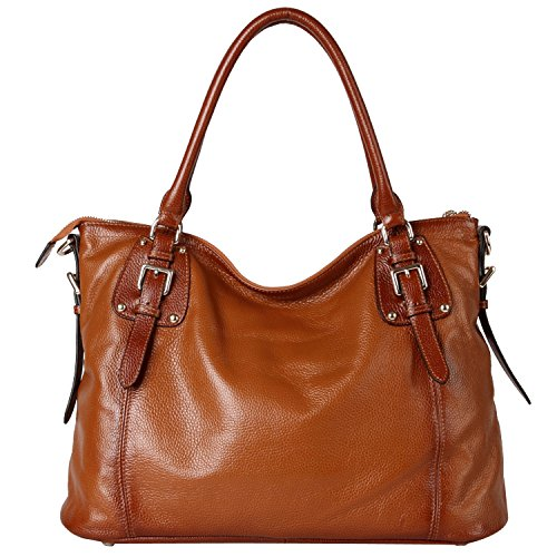 TOP-BAG Women Ladies' Genuine Leather Tote Satchel Shoulder Handbag - SF8008