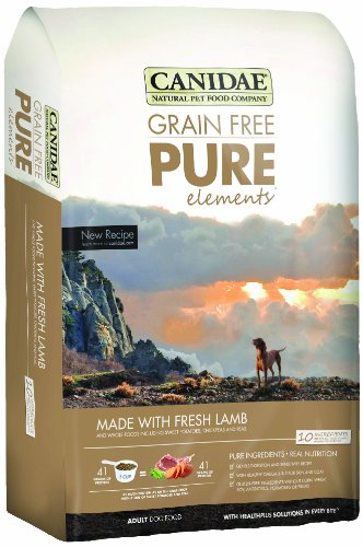 CANIDAE Grain Free PURE Elements Adult Dog Formula Made With Fresh Lamb, 24 lbs