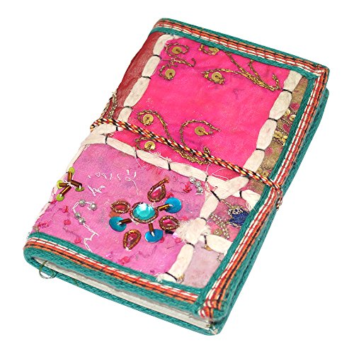 R S Jewels R S Jewels Handmade Paper Patchwork Embroidery Printed Diary (Blue)