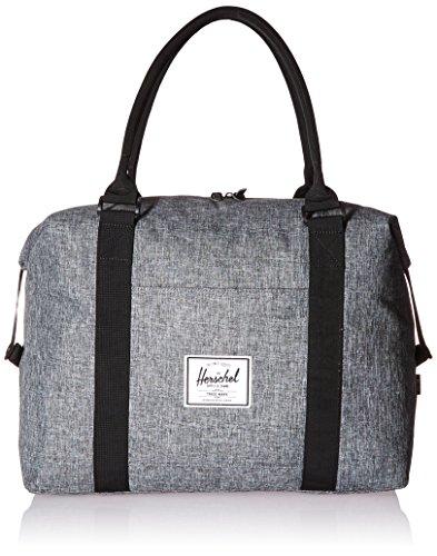 herschel-supply-co-strand-duffle-bag-raven-crosshatch-black