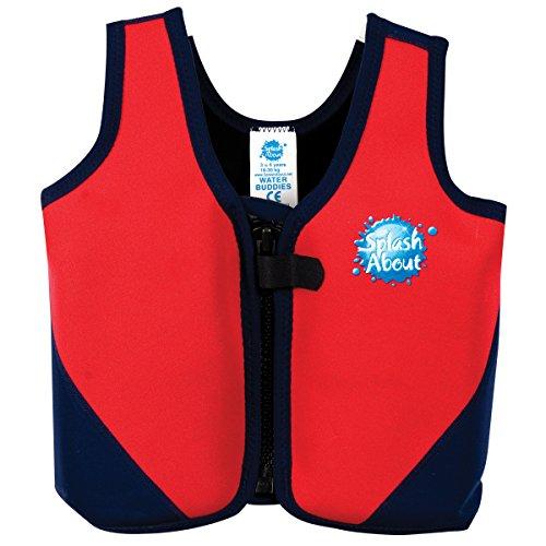 Splash About, Giubbotto salvagente per bambini, Rosso (Rot Marine), 6-10 anni
