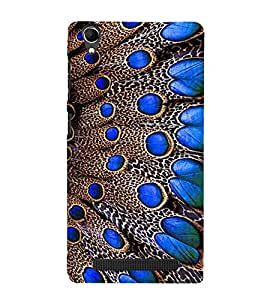 Vizagbeats Peacock feather Back Case Cover for Intex Aqua Power Plus