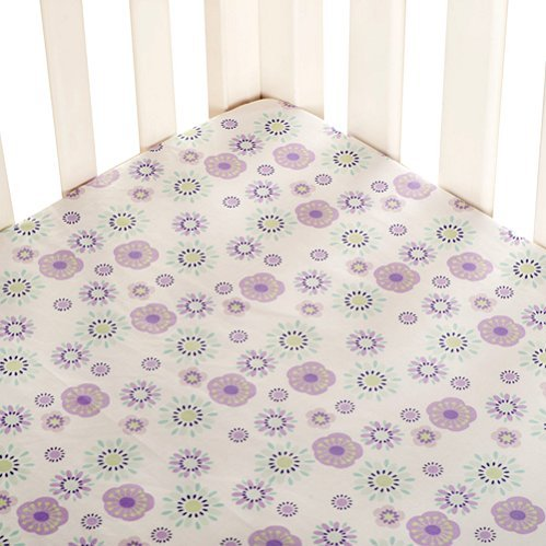 Zoo Garden Fitted Crib Sheet