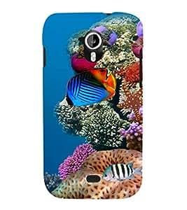 printtech Fish Ocean Coral Back Case Cover for Micromax Canvas HD A116::Micromax Canvas HD Plus A116Q