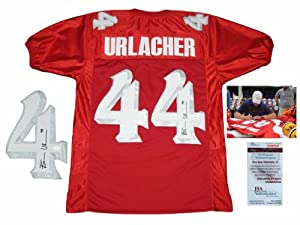 Brian Urlacher Signed Autographed Red Jersey - New Mexico Lobos Autograph