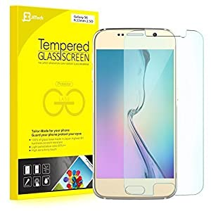 S6 Protector de Pantalla, JETech® Vidrio Templado Protector de Pantalla Empaquetado al por Menor para Samsung Galaxy S6