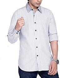 Moksh Men's Striped Casual Shirt V2IMS0414-17 (X-Large)